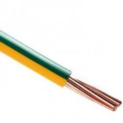 Câble de terre 6mm² vert/jaune