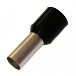 50x Embout 25mm² isolé noir