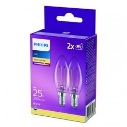 2x Philips Filament B35 2W...